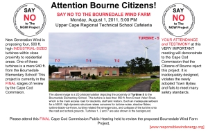 Flyer on turbine hearing