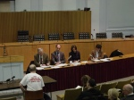 Malcolm Donald addresses state officials in DEP/DPH Hearing