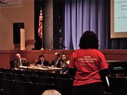 Dawn Devlin testifies before DEP and DPH officials