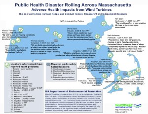 Map shows the public health disaster wind turbines have created in MA