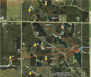 Proximity of Enz home to 6 turbines