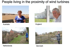 Reports interviews regarding wind turbines